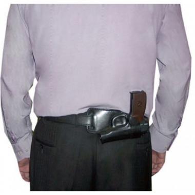 Кобура поясная ПМ кожаная формованная трехслойная для ношения за спиной