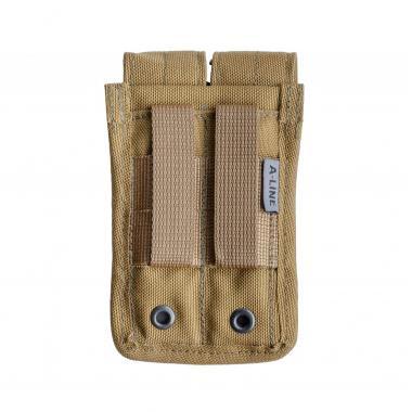 Подсумок для двух пистолетных магазинов, molle-совместим, с клапанами a-line cm14
