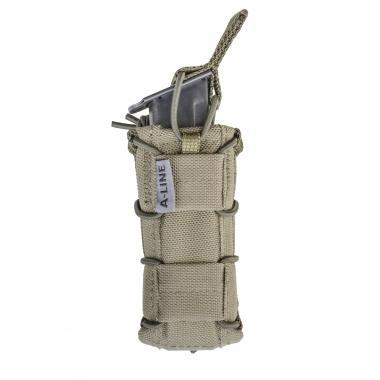 Открытый подсумок для одного пистолетного магазина, molle-совместим, с резинками a-line cm63