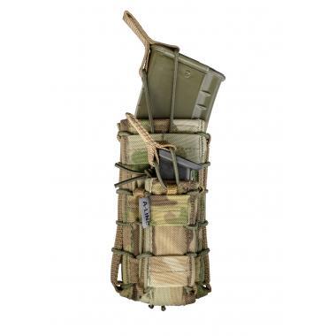 Открытый подсумок для магазинов ak/ar+пистолетный, molle-совместим  a-line см65